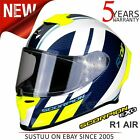 Scorpion EXO R1 Air Corpus Motorcycle Racing Full Face Helmet│White/YEL│All Size