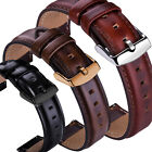 18 20 22mm Genuine Leather Wrist Watch Band Strap For Fossil Q Smart Wristband image
