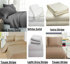 Flat/Fitted/Pillowcase 100% Cotton 600 Thread Count 18 Inch Deep Pocket image