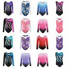 Kyпить Kids Girl Long Sleeve Ballet Dance Leotards Gymnastics Fitness Costume 4-10Y на еВаy.соm
