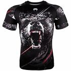 Venum Men's Grizzly Bear Short Sleeve Rash Guard MMA BJJ Black/White