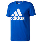adidas Men's Logo Tee T-Shirt Size XXL (2XL) Royal Blue/White DH9931 image