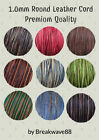 1mm Leather Round Cord Natural Distressed Leather by the Yard Over 40 Colors