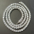 4MM - RHODIUM PLATED - TENNIS CZ CHAINS -- MULTIPLE SIZES image