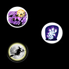 HALLOWEEN 32300 button pins witch moon cat owl bat ghost pin jewelry