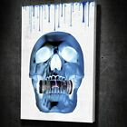 Money Hungry Skull Inverted Large Framed Canvas Painting Wall Art Office Decor
