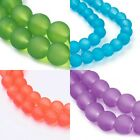Frosted Glass Beads 6mm Round 140 Pieces