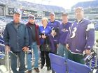 Baltimore Ravens tickets ALL GAMES SEC103,123 and 124  Lower Sidelines