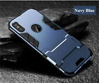 For iPhone XS Max XR X 8 7 6S Plus Rugged Armor Kickstand Shockproof Case Cover