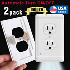 Внешний вид - Pack of 10 Outlet wall plate with led night lights Covers with Sensor Automatic