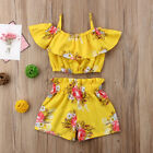 Kyпить Toddler Kids Baby Girl Floral Outfits Clothes T-shirt Tops+Pants/Shorts 2PCS Set на еВаy.соm