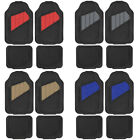 Motor Trend Heavy Duty Car Floor Mats All Weather Rubber 4 Pieces Set Protection $22.5 USD on eBay