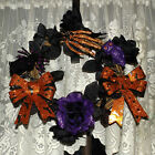 Halloween Handmade Decorative Door Wall Reed Wreath - Light Up Bell Glow In Dark