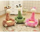 Внешний вид - Kids Sofa Giraffe Stuffed Animal Cartoon Bean Sofa Chair/Child Seat Kid Gift NEW