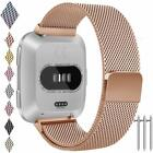 Small Fitbit Versa Replacement Band/Adjustable Metal Wristband Bracelet/Strap