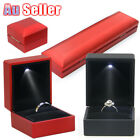Pendant Jewelry Creative Case Holder Necklace Box Display Gift Ring Led Lighted