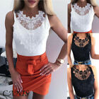 Women Short Sleeve Lace T Shirts Fashion Ladies Summer Casual Blouse Tops Shirt image