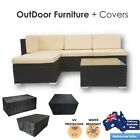 Outdoor Rattan Furniture Sofa Set Cushion Covers Wicker Lounge Garden Pool Patio
