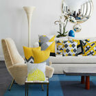HQ 18 inch / 45cm  20 inch / 50 cm  Mustard Yellow Geometric Sofa Cushion Cover