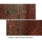 Leather Sheets, Embossed Leather Cowboy Tool Dark Red, Custom Cuts for Crafters