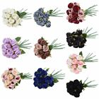 12-head Artificial Rose Bouquet Silk Fake Flowers Wedding Party Home Decoration