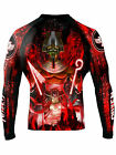 Raven Fightwear Men's The Gods of Egypt Osiris Rash Guard MMA BJJ Black