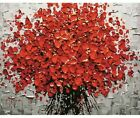 Red Flowers Paint By Number Kit For Adult DIY Painting 40CMx50CM Canvas