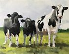 Cow Art PRINT Wall Art from original oil painting by James Coates 140