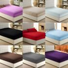 "Luxury Fitted Sheet Short Queen Size Multi Color 1000 TC Drop Up To 6"" To 18"" image"