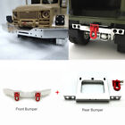 Rc Car Parts Modified Diy Metal Front Rear Bumper For Wpl 1:16 Military Truck