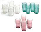 Adeline 16 Ounce Emboss Glass Tumblers Set Pioneer Woman Drinking Glassware