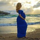 Cotton Gown Maternity Maxi Dress Wedding Party Dresses Photography Prop Clothes