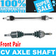 Front 2x CV Joint Axle Shaft for DAEWOO NUBIRA 99-02 Standard Transmission