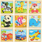 Development Baby Kids Toys 3D DIY Wooden Puzzle Cartoon Learning Educational Toy