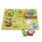 Wooden Puzzles Intelligence Early Learning Children Kids Threading Toys Game LJ