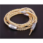 Customized 8 Cores OCC Silver Plated Earphone Replace Cable For Technica Westone