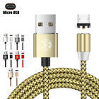 UGI 1/2M 360° Magnetic High Speed Micro USB Type-C For iPhone iOS Charging Cable