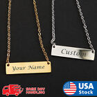 Personalized Engraved Custom Your Name Stainless Steel Necklace Pendant Jewelry