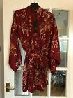 Stunning BNWT M&S Rosie @ Autograph red mix dressing gown robe 10 - 20