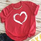 Women's valentine shirts lover tops love t shirt tee top print vintage tees fash