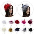 New Fascinators Hair Clip Headband Pillbox Hat Bowler Feather Veil Wedding Party