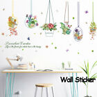 Home Decor Wall Stickers Window Decal Hanging Flower Potted Cartoon Plants