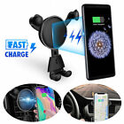 Fast Wireless Car Charger Gravity Air Vent Automatic Mount Holder For Cell Phone
