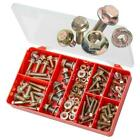 Zinc Yellow M6 M8 M10 Durlock Flange Bolts & Nuts TORRES Assortment Kit #AAK26