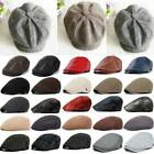 Mens Newsboy Gatsby Cap Ivy Hat Cabbie Golf Driving Flat Beret Driver Warm Hats