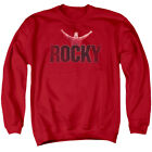 Rocky Sweatshirt Distressed Victory Red Pullover $35.99 USD on eBay