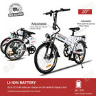 """20"""" Electric Fat Tire Bike City Mountain Bicycle w Removable Lithium Battery US"""