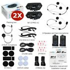 M1-S Motorcycle Helmet Intercom 2KM 8 Riders Group Bluetooth Headset Interphone