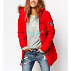 ABERCROMBIE & FITCH WOMENS EXPEDITION PARKA JACKET COAT RED SIZE LARGE A&F