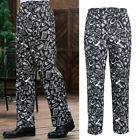 Nylon Printed Chef Pants Uniform Cargo Baggy Pants Kitchen Working Trousers
